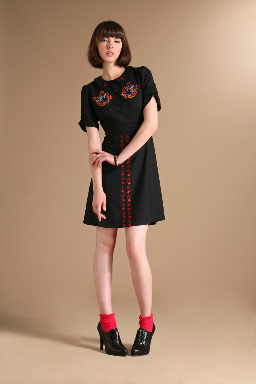Dress: 'Fella' (embroidered). Zakee Shariff for ASOS, AW08