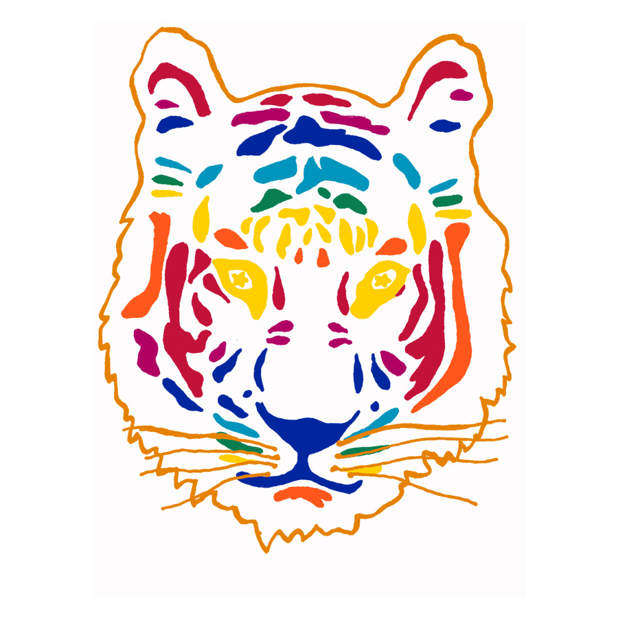 'Rainbow Tiger' design. Zakee Shariff for ASOS, AW08