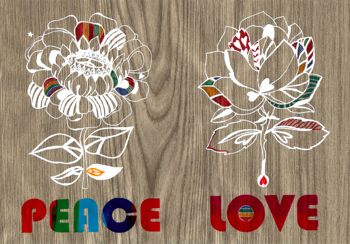 'Peace & Love', 2006. For Colette's 'My 2007' show in aid of WWF