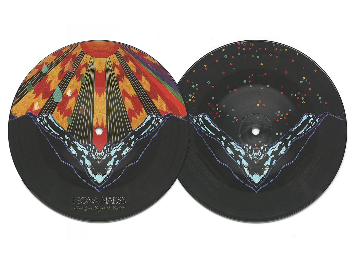 """Zakee Shariff & Al Newman, Leona Naess""""Leave Your Boyfriends Behind"""" UK seven-inch picture disc single, Polydor Records, 2009"""