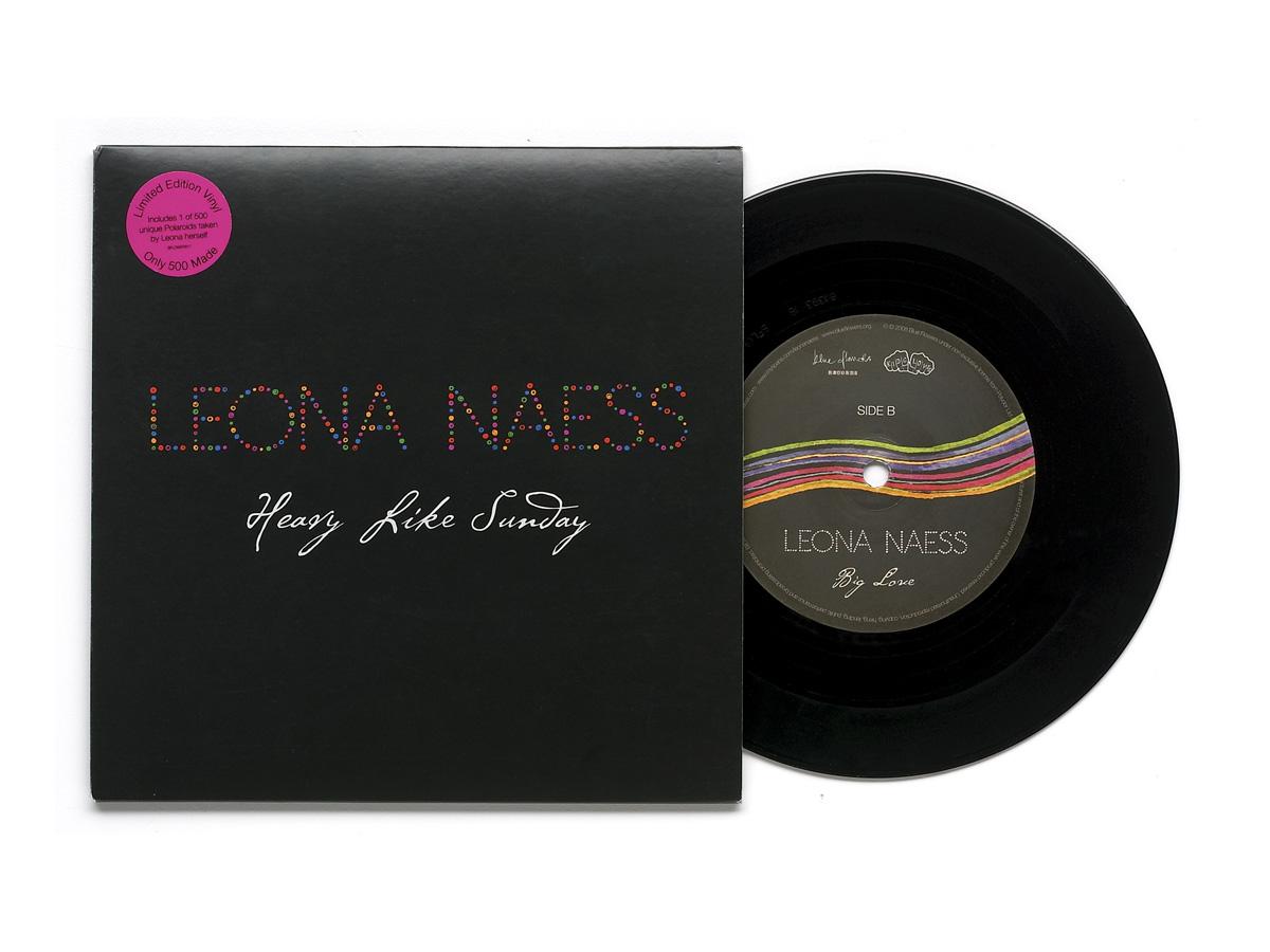 """Leona Naess """"Heavy Like Sunday"""" seven-inch single, Polydor Records, 2008"""