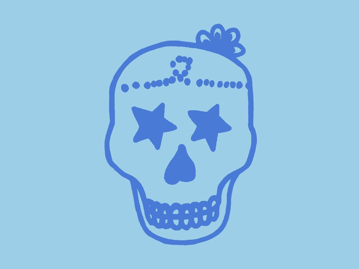 'Ruth SKull' Artwork for print 2009