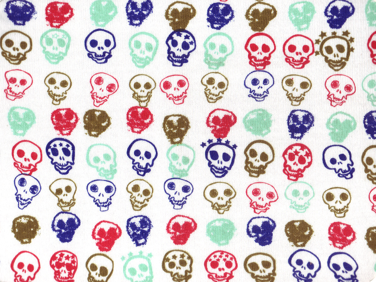 'All-Over Skull' print on jersey, 2000