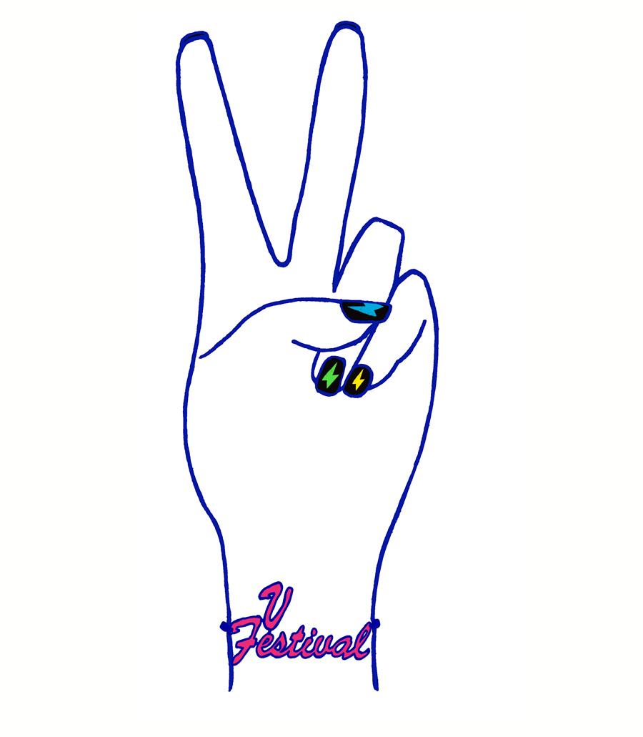 'V Hand' T-shirt graphic, V Festival, 2010