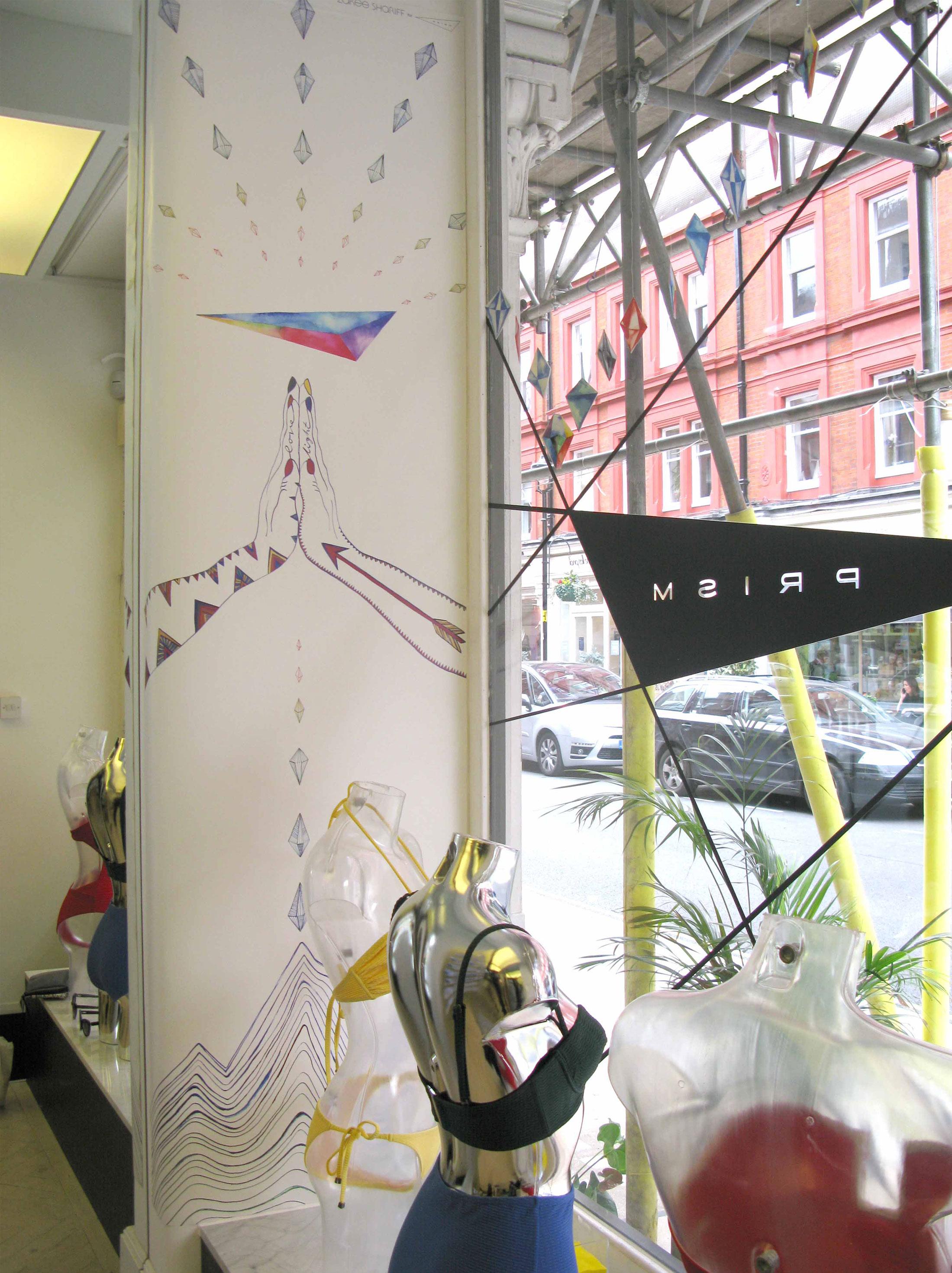 Interior shot of the window