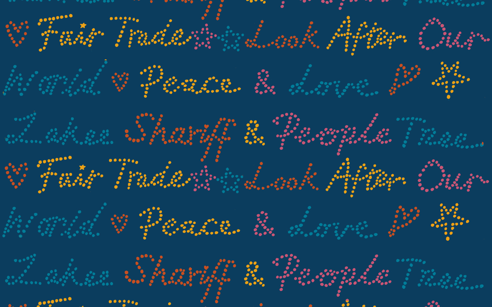 'Peace Text' print, Zakee Shariff for People Tree, AW12
