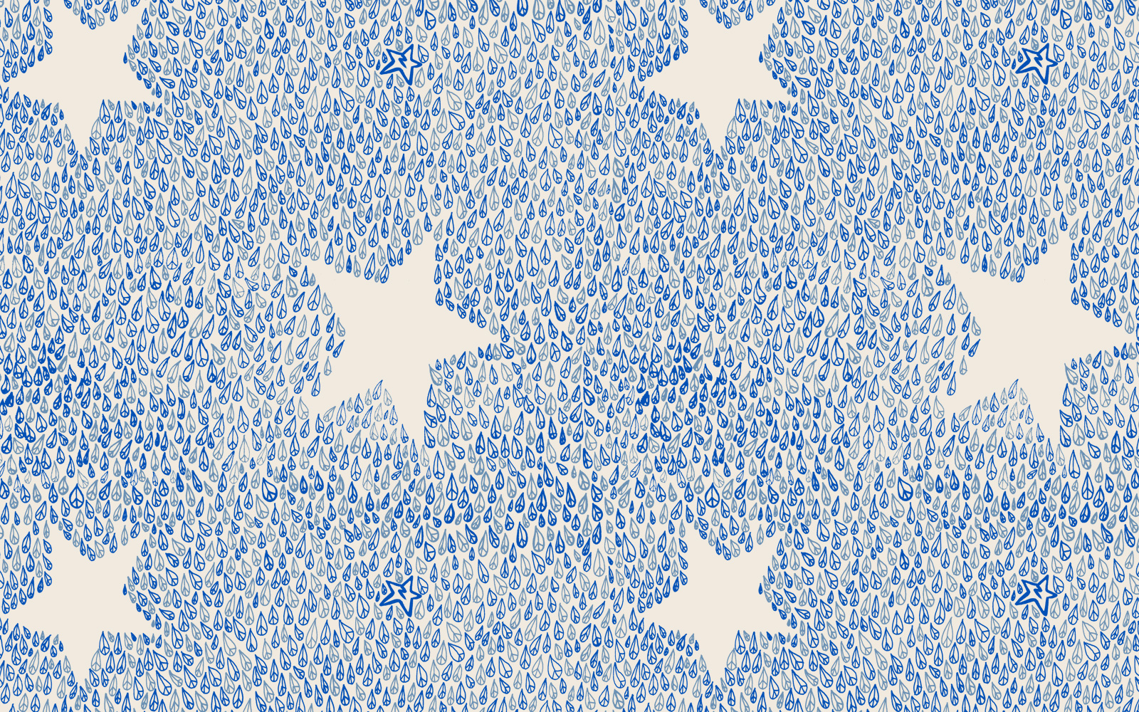 'Peace Star' all-over print for cotton jersey, Zakee Shariff for People Tree, AW13