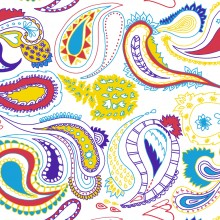 'Paisley' all-over print, Zakee Shariff for People Tree, SS12