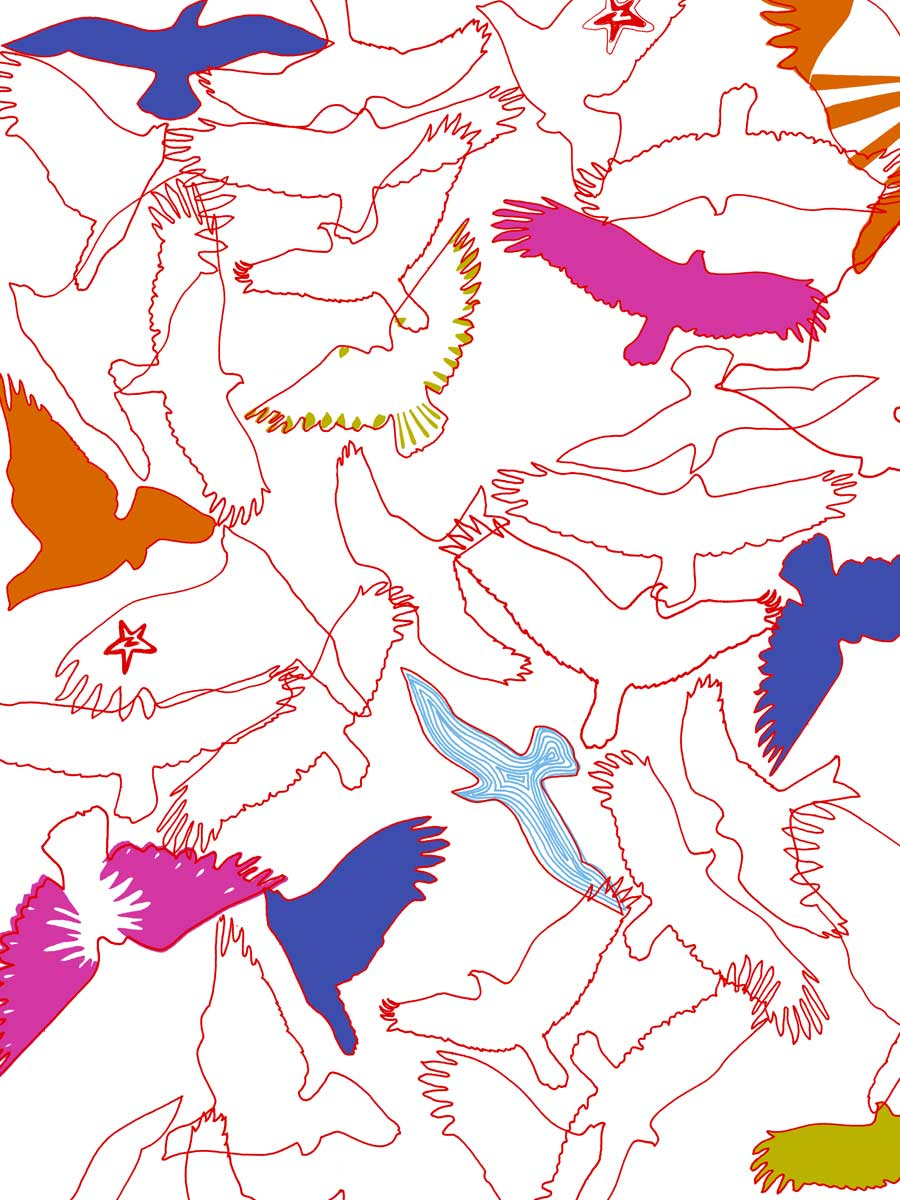 'Peace Birds' all-over print, Zakee Shariff for People Tree, SS12