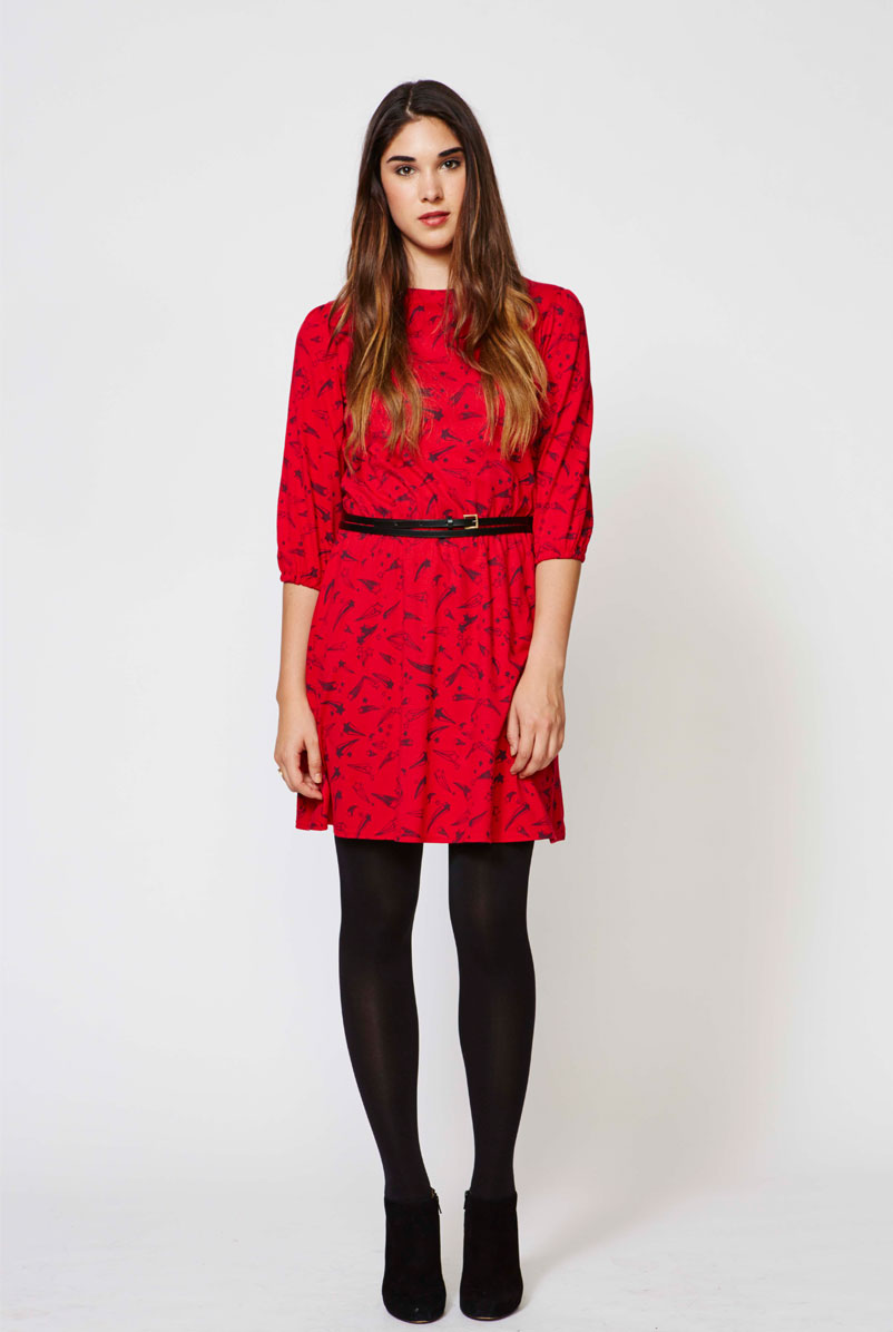 Printed dress with all-over Shooters print, AW13