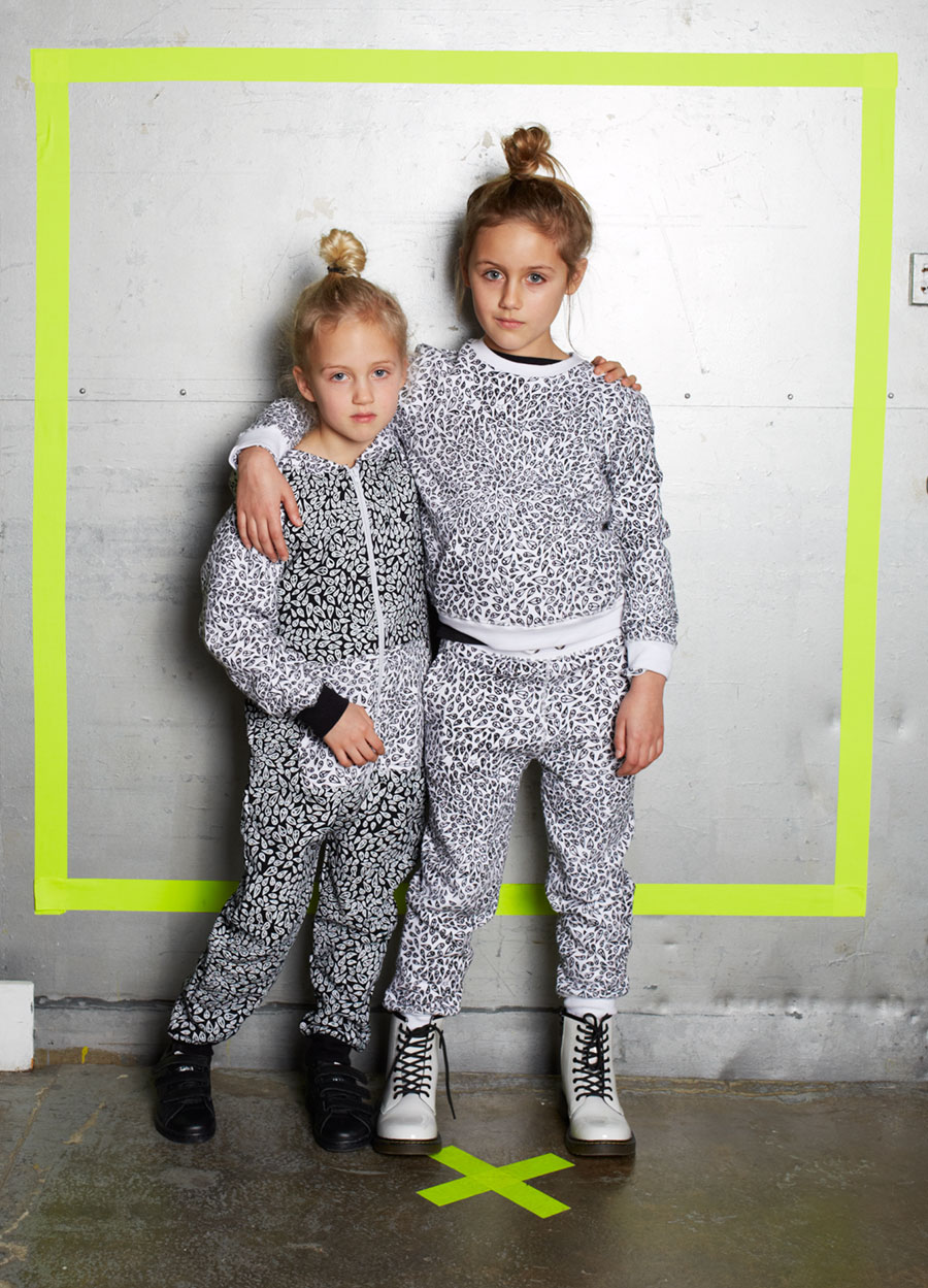 'Peace Drop' allover print on jersey tack suit and onezie, Zakee Shariff for Ruff and Huddle AW14
