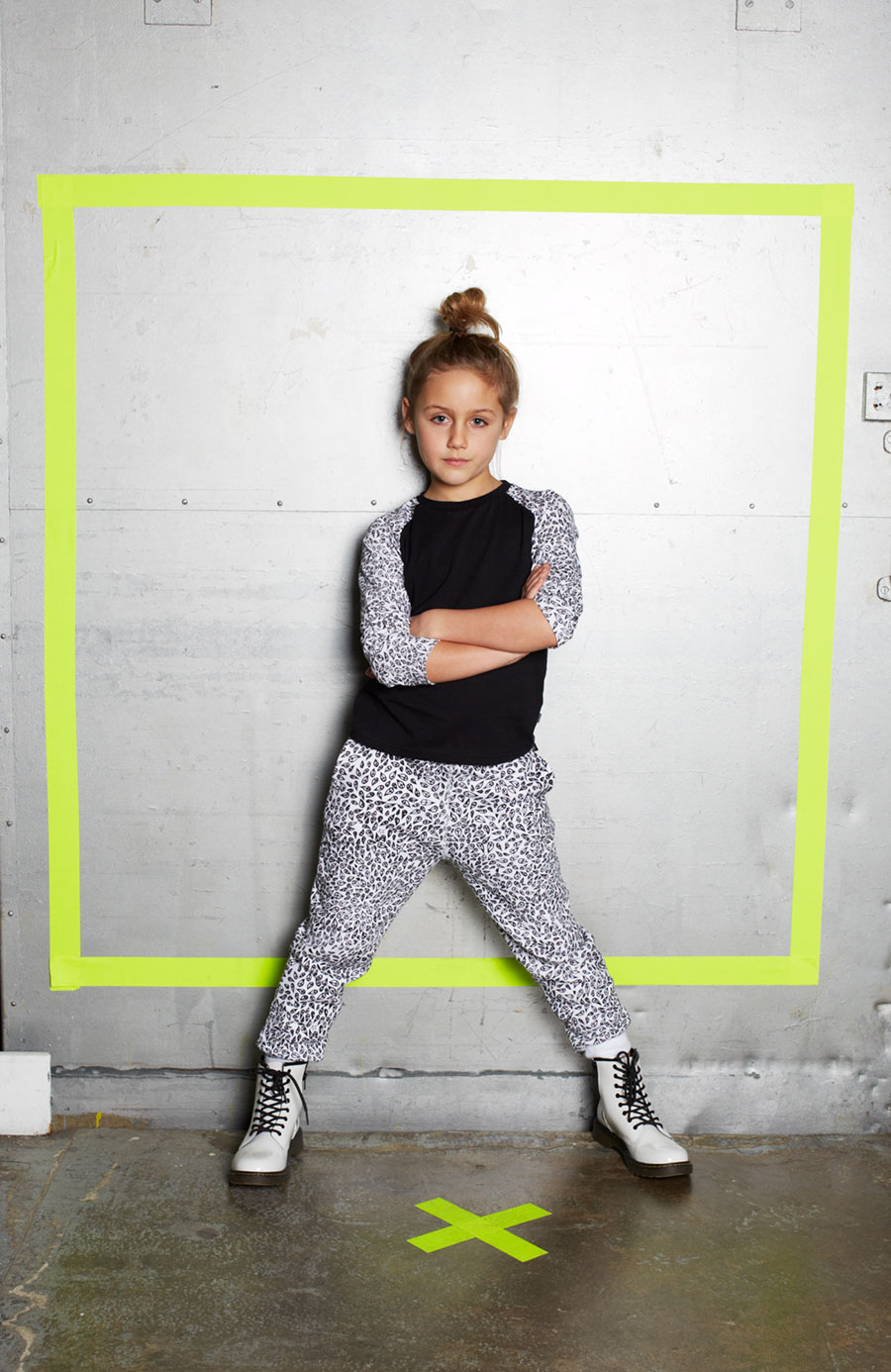 'Peace Drop' allover print on jersey top and trackpant, Zakee Shariff for Ruff and Huddle AW14