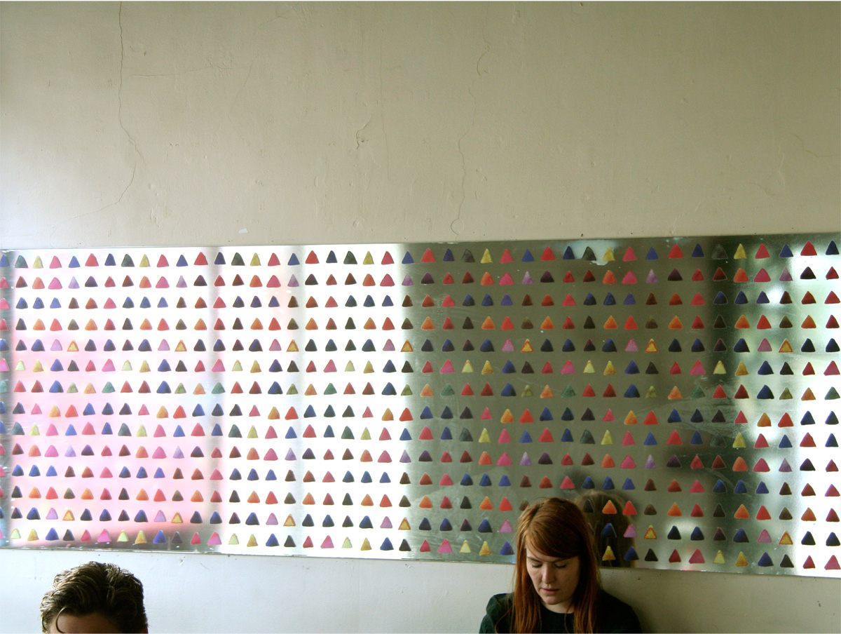 Vinyl-printed mirror, inside the Old Shoreditch Station, 2009
