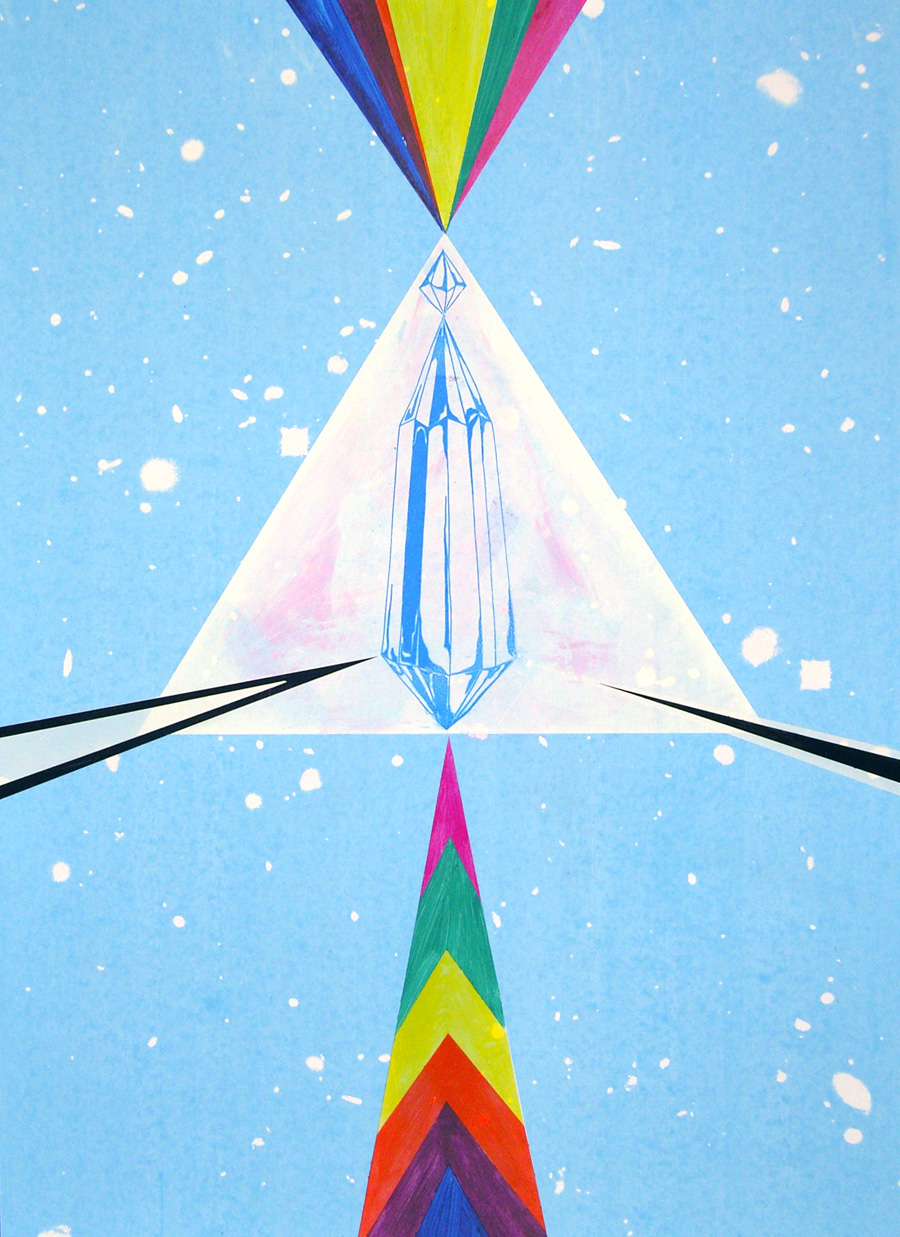 Spirit, Come Take The Blackness Away, 2009. Silkscreen print and hand-painting