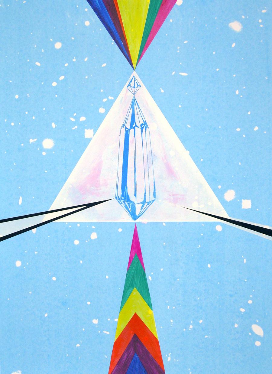Spirit, Come Take The Blackness Away, 2009. Silkscreen print and hand-painting