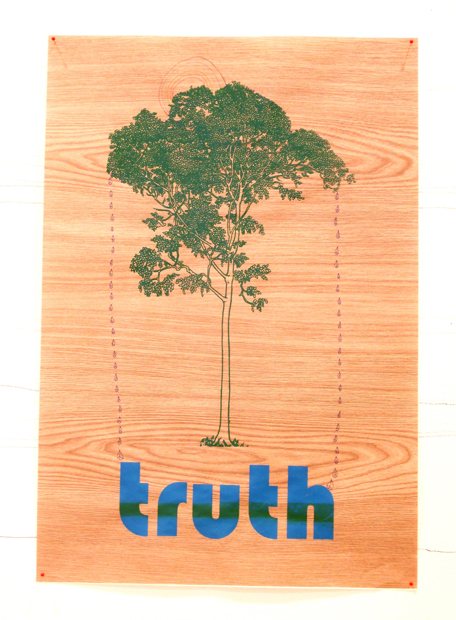 'Truth Tree', 2006. Silk-screen print and pen & ink on paper. 84 × 56 cm