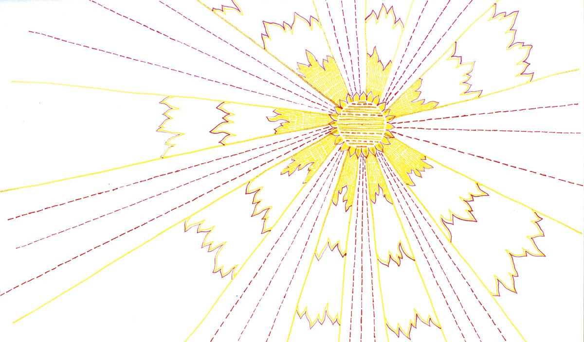 Artwork for Skye's 'Mind How You Go' album, 2006. Pen & ink on paper