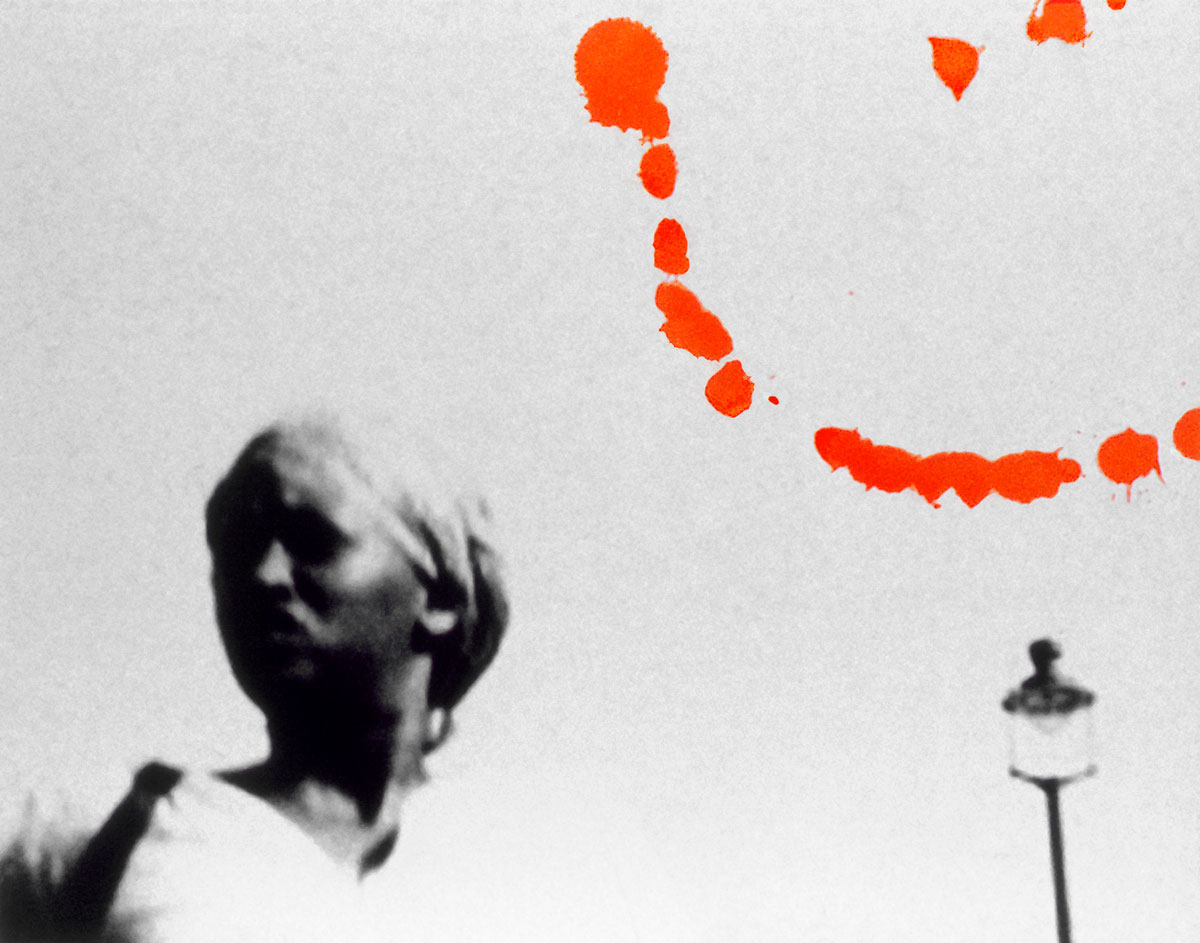 Zakee Shariff & Rosalind Miller, 'Head Scarf Lady', 2002. Silk-screen print on photograph. 28 × 43 × 4 cm