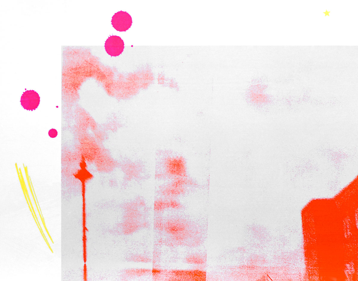 Zakee Shariff & Rosalind Miller, <em>Untitled</em>, 2002. Silk-screen print on photograph. 28 × 43 × 4 cm