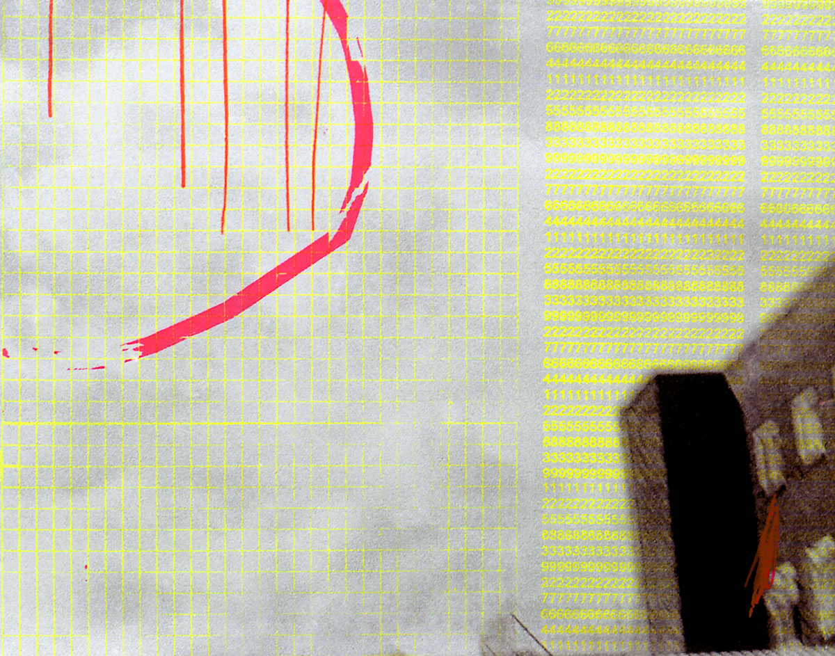 Zakee Shariff &amp; Rosalind Miller, <em>Untitled</em>, 2002. Silk-screen print on photograph. 28 × 43 × 4 cm