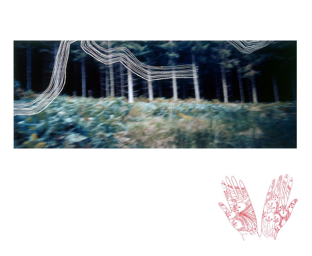 Zakee Shariff & Rosalind Miller, 'Scots Land', 2003. Silk-screen print on photograph, dry-mounted onto aluminum