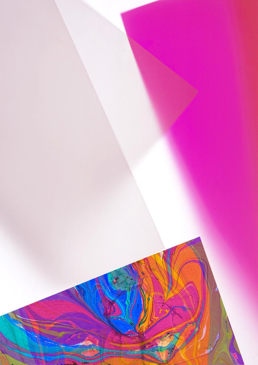 Zakee Shariff & Rosalind Miller, 'Pink Light', digital hand illustration over photograph, 84 × 118 cm