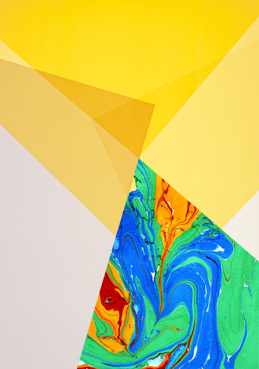 Zakee Shariff & Rosalind Miller, 'Yellow Light', digital hand illustration over photograph, 84 × 118 cm