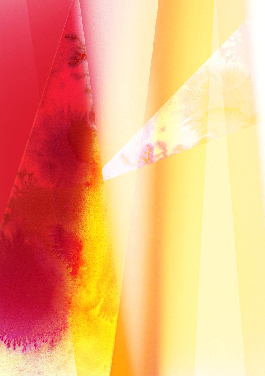 Zakee Shariff & Rosalind Miller, 'Red light', digital hand illustration over photograph, 84 × 118 cm