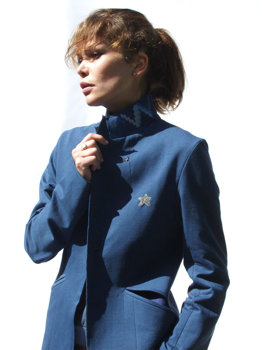 Cotton jersey jacket: <em>Joshua Tree</em> embroidery. Photo by Clementine Charity