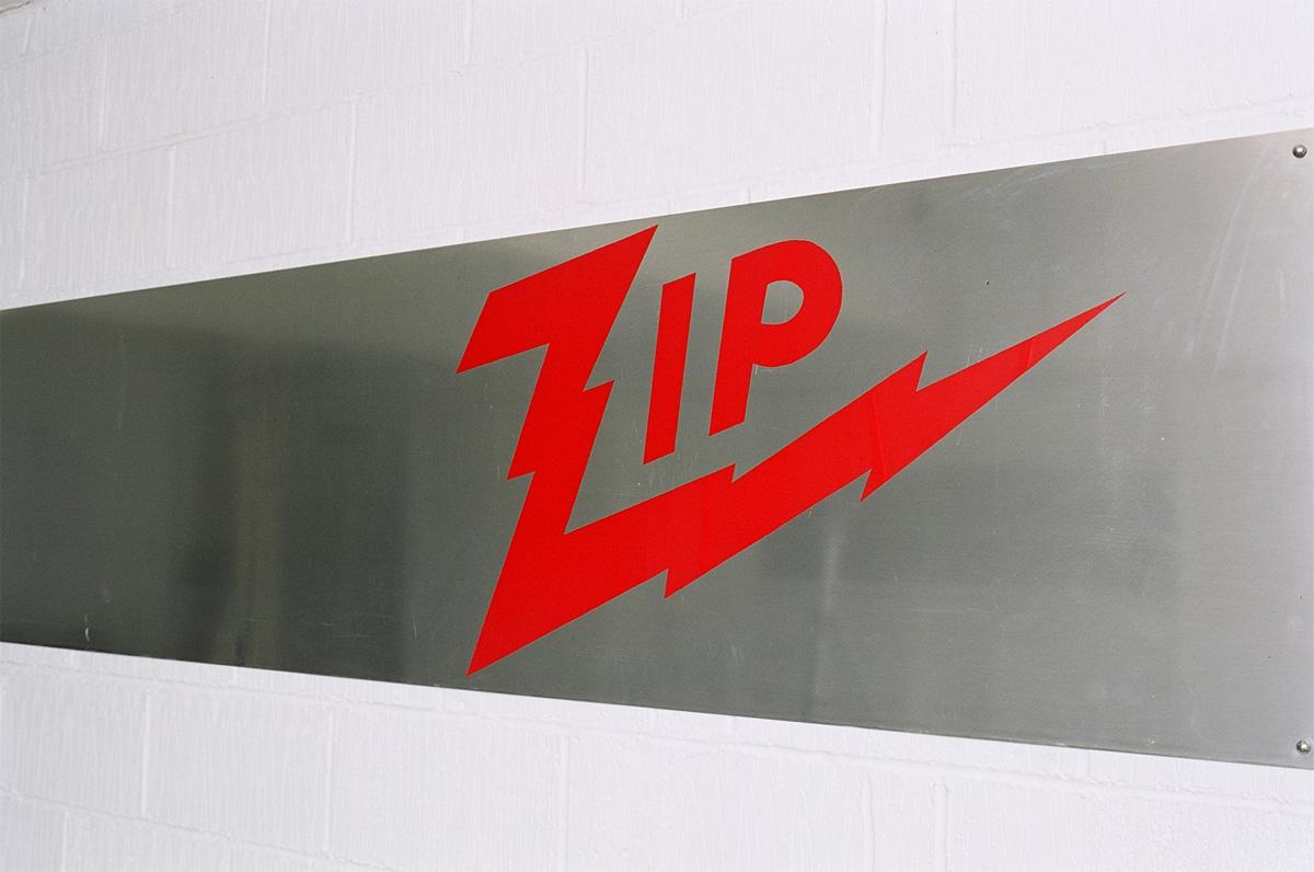'Zip' screen print on metal, 2005
