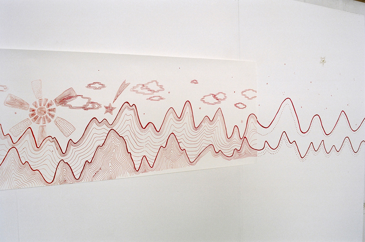 <em>Karokia</em> screen print on Japanese paper