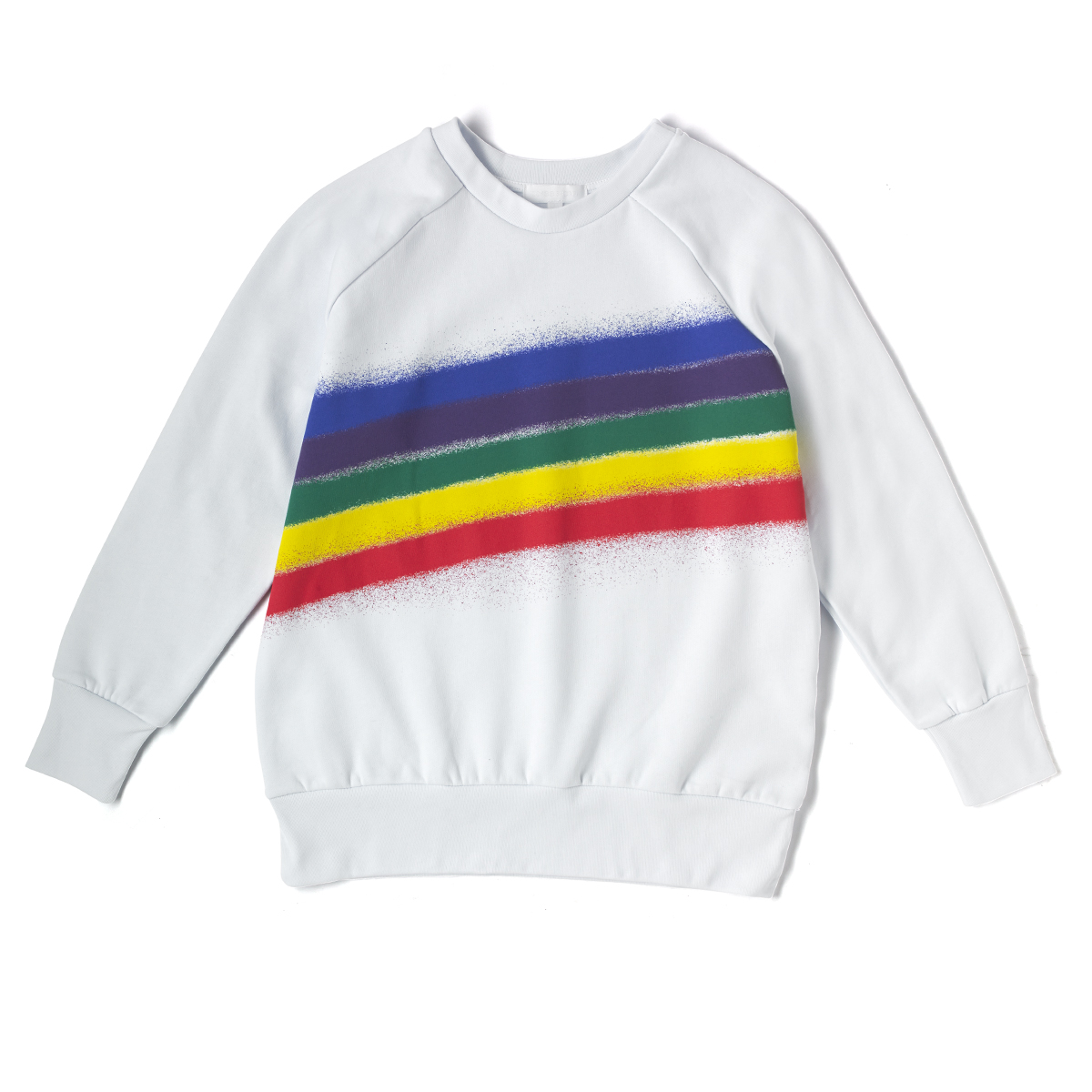 Rainbow Spray Printed Sweat.