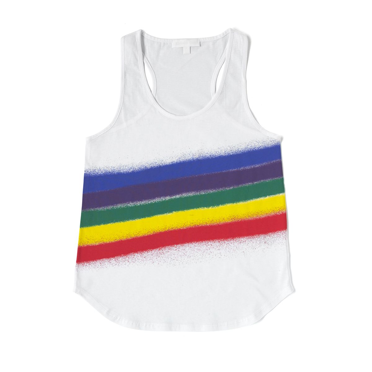 Rainbow Spray Printed Vest.