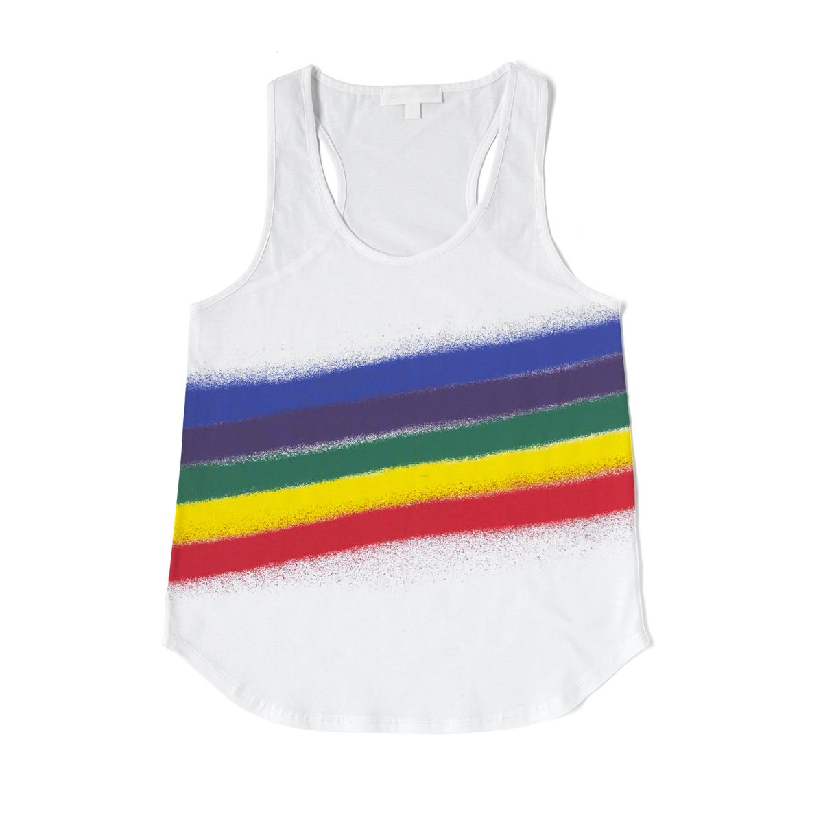 Rainbow Spray Printed Vest.