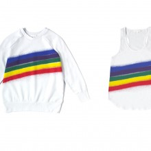 Rainbow Spray Printed Sweat & Vest
