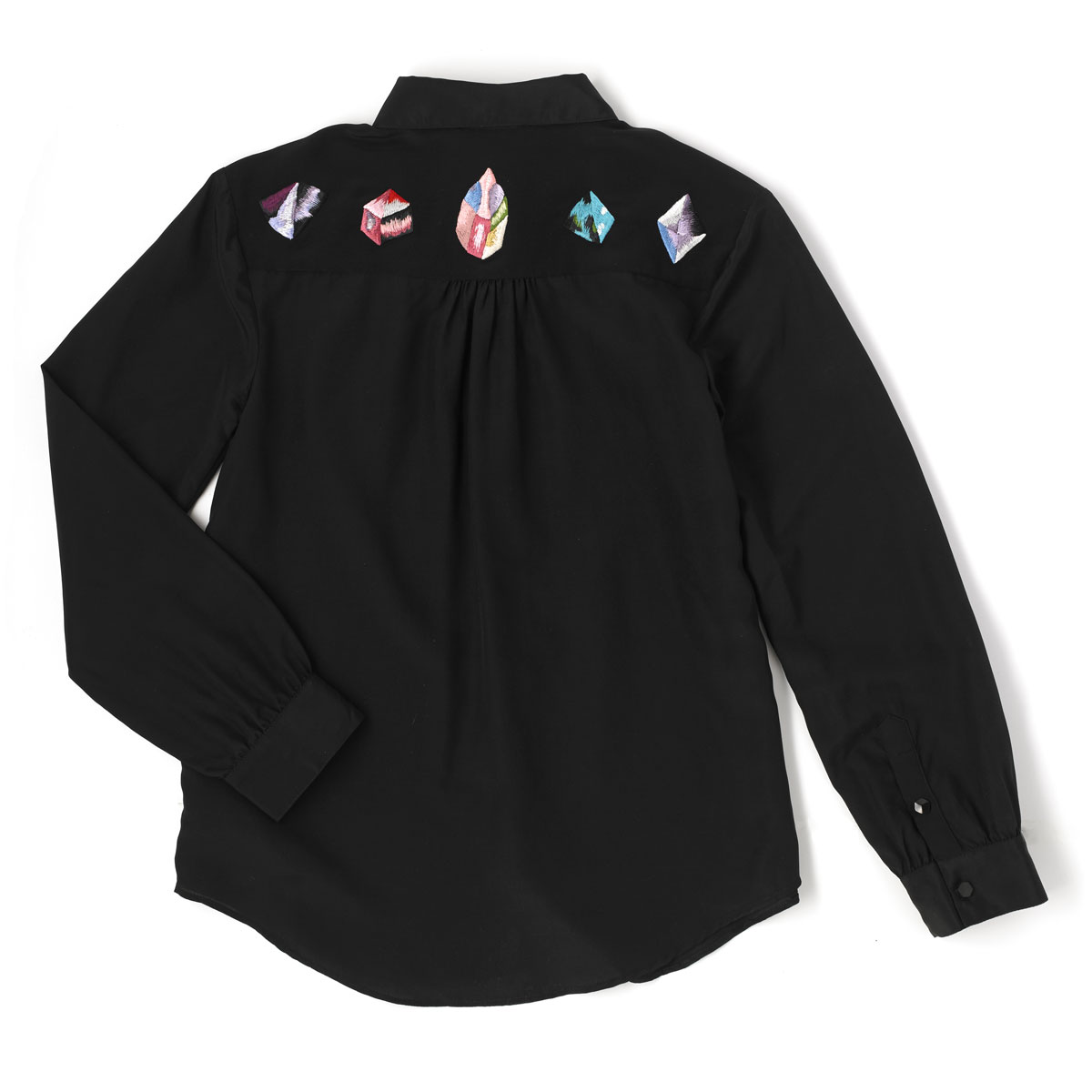 EVE blouse  Blouse in black with embroidered HEALERS.