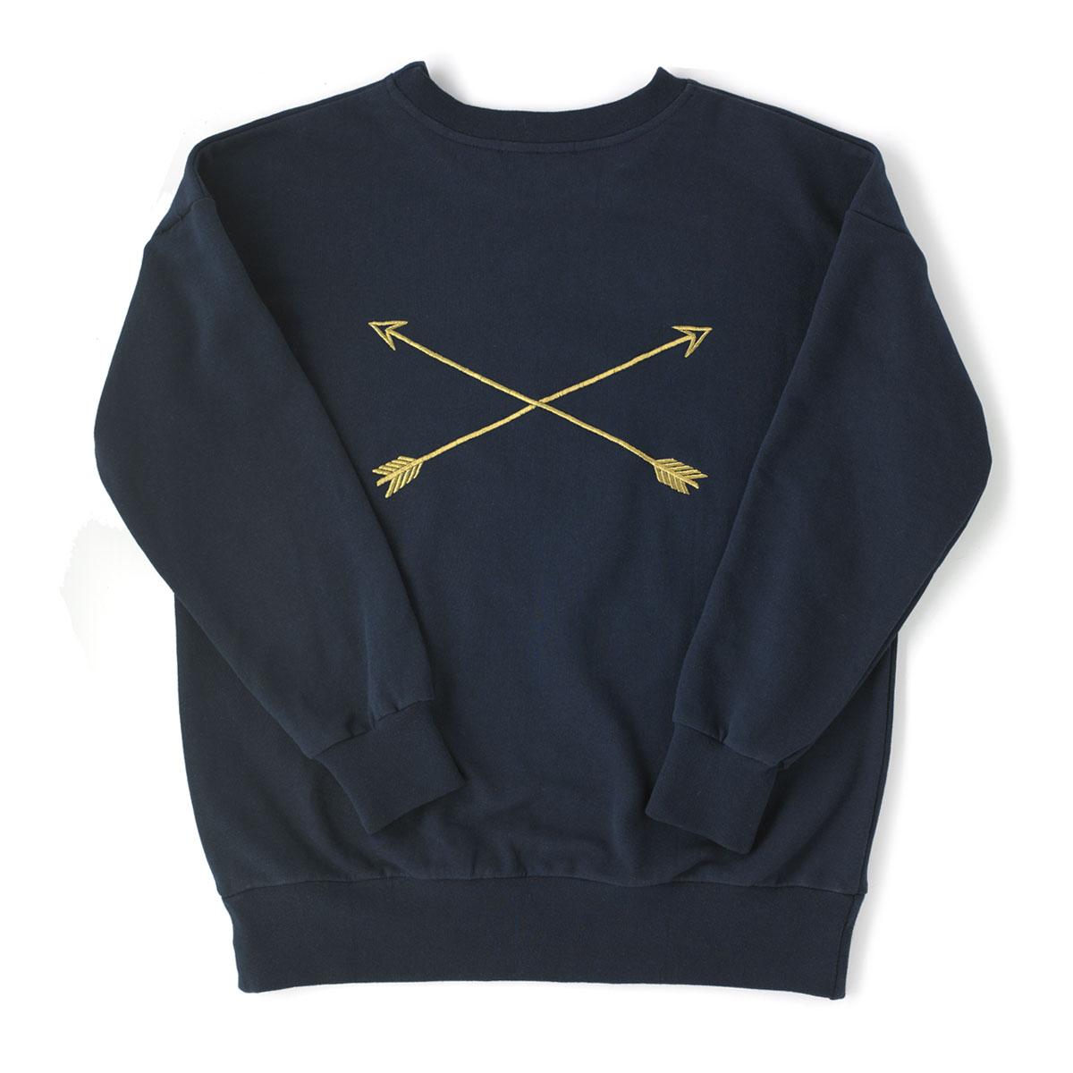 KALE SWEAT Embroidered, cotton sweatshirt. Back