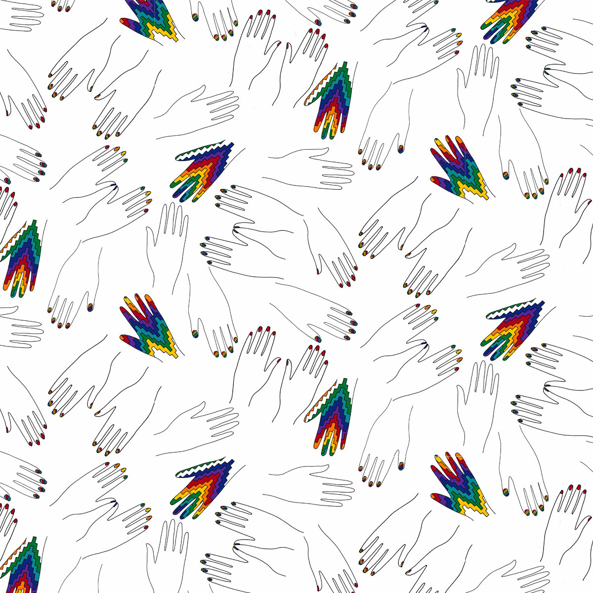 MAGIC HANDS Wallpaper in repeat