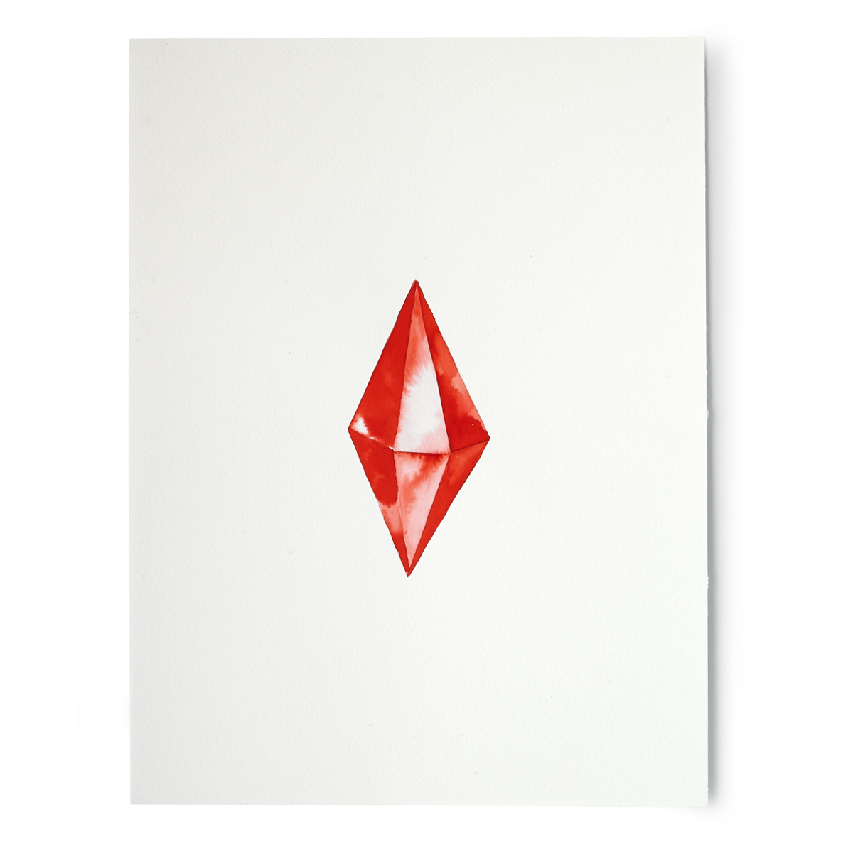 Red Crystal Digital Print.