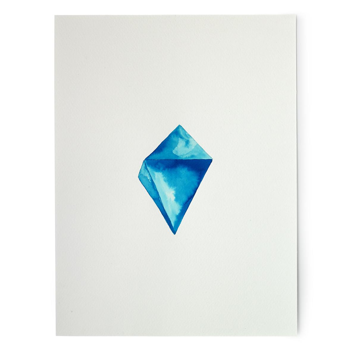 Turquoise Crystal Digital Print.