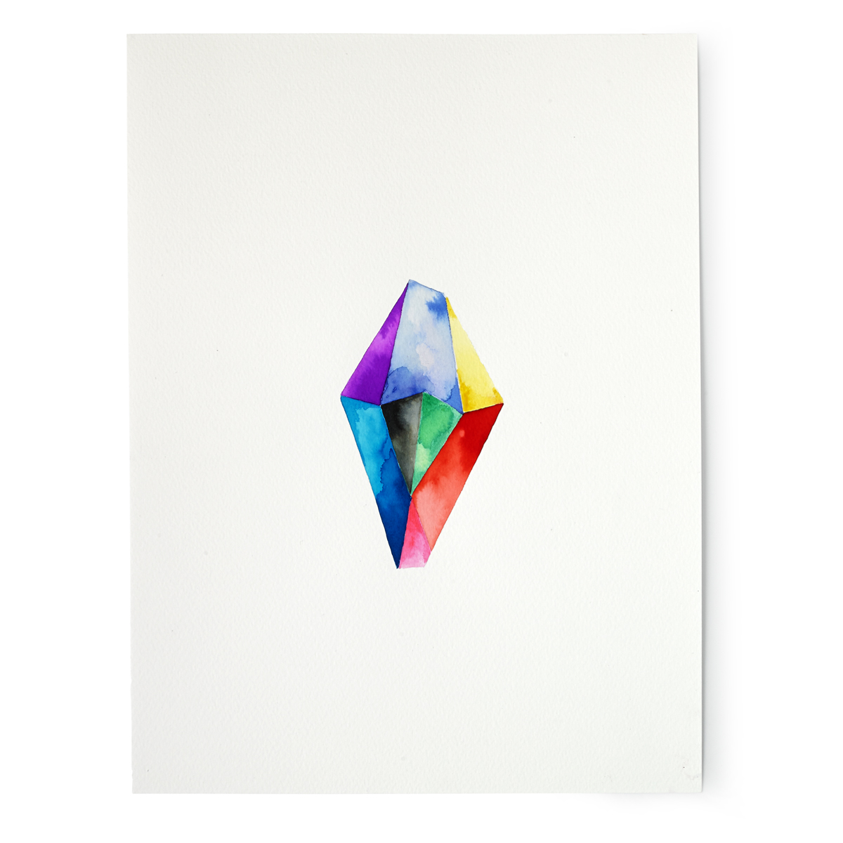 Rainbow Crystal Hand Painted