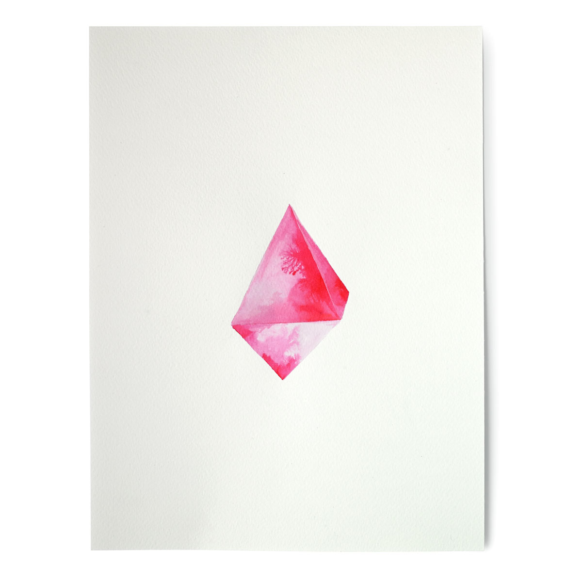 Pink Crystal Hand Painted