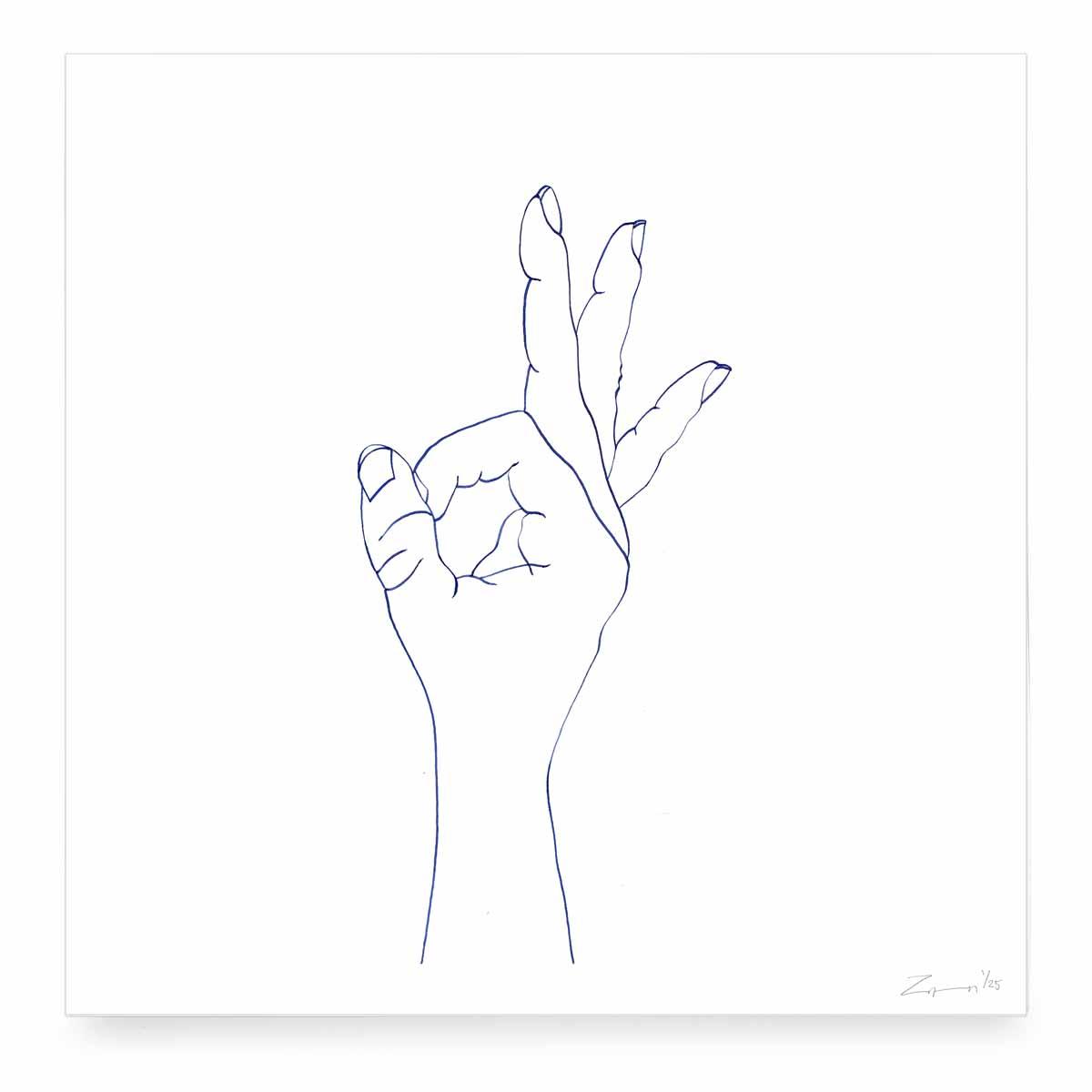 <em>Ok Hand</em>  Digital print