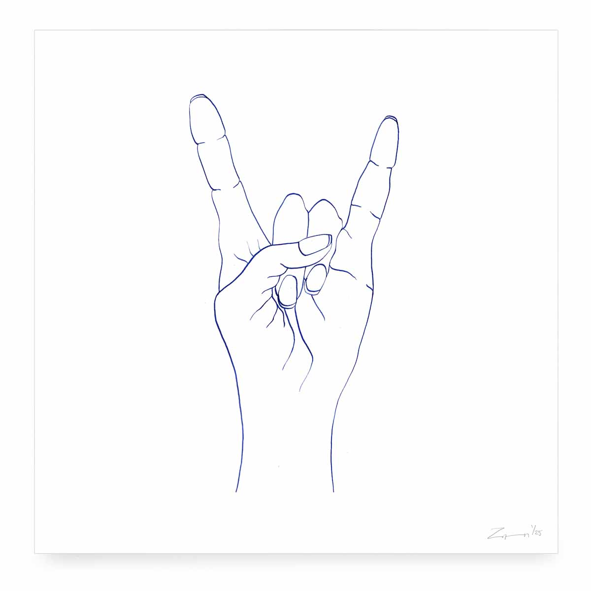 <em>Rock Hand</em>  Digital print