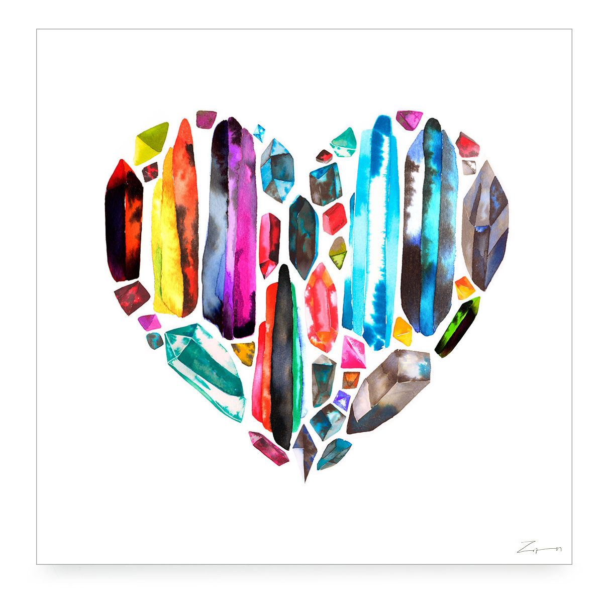 RAINBOW HEART Digital Print