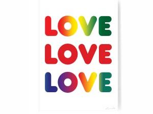 LOVE LOVE LOVE Digital Print on paper.