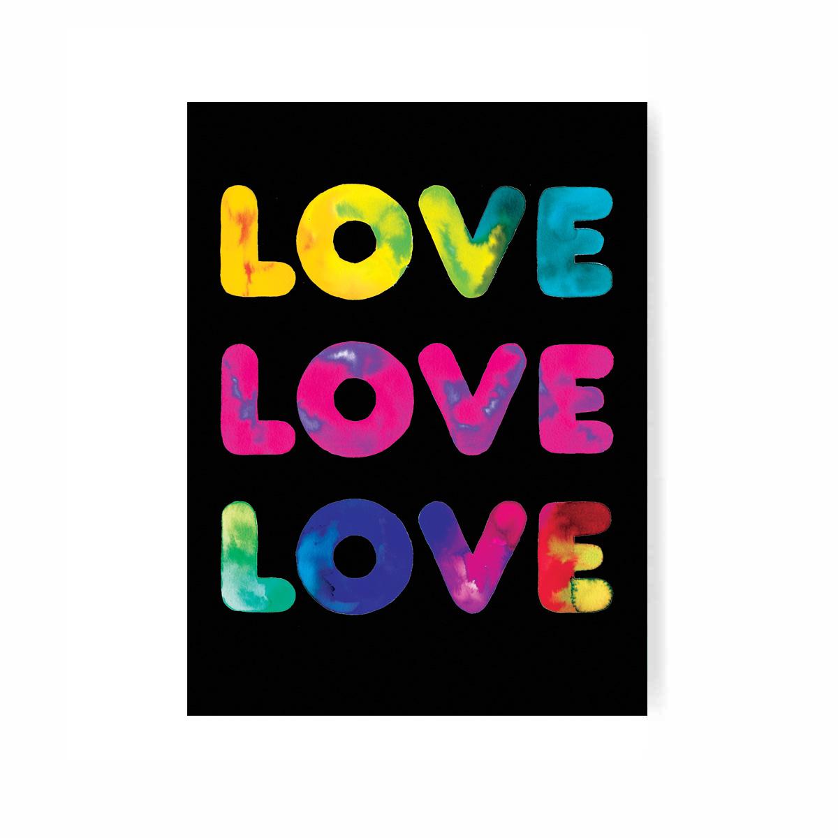PSYCHEDELIC LOVE LOVE LOVE Digital Print on paper.