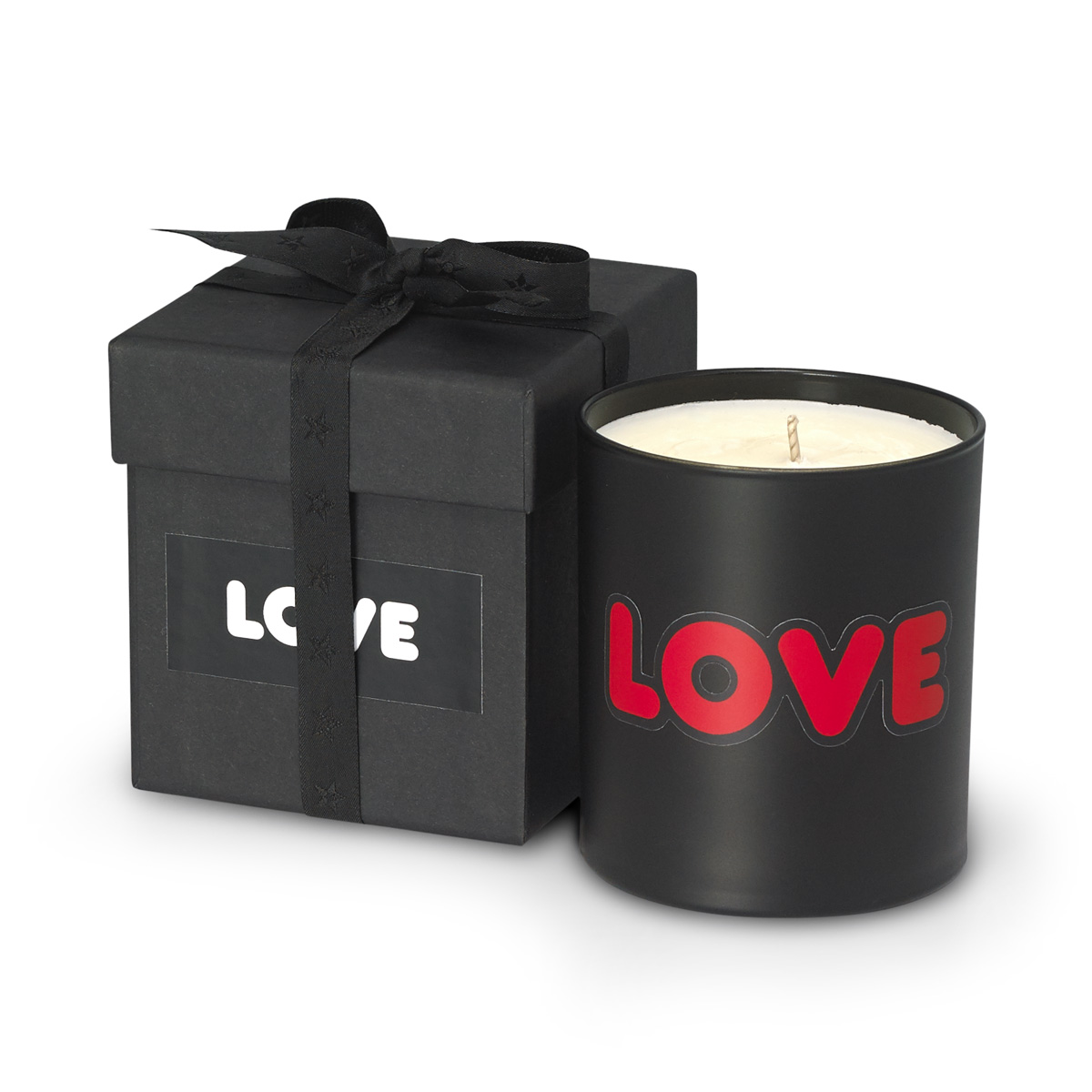 Rosewood Scented candle with LOVE RED