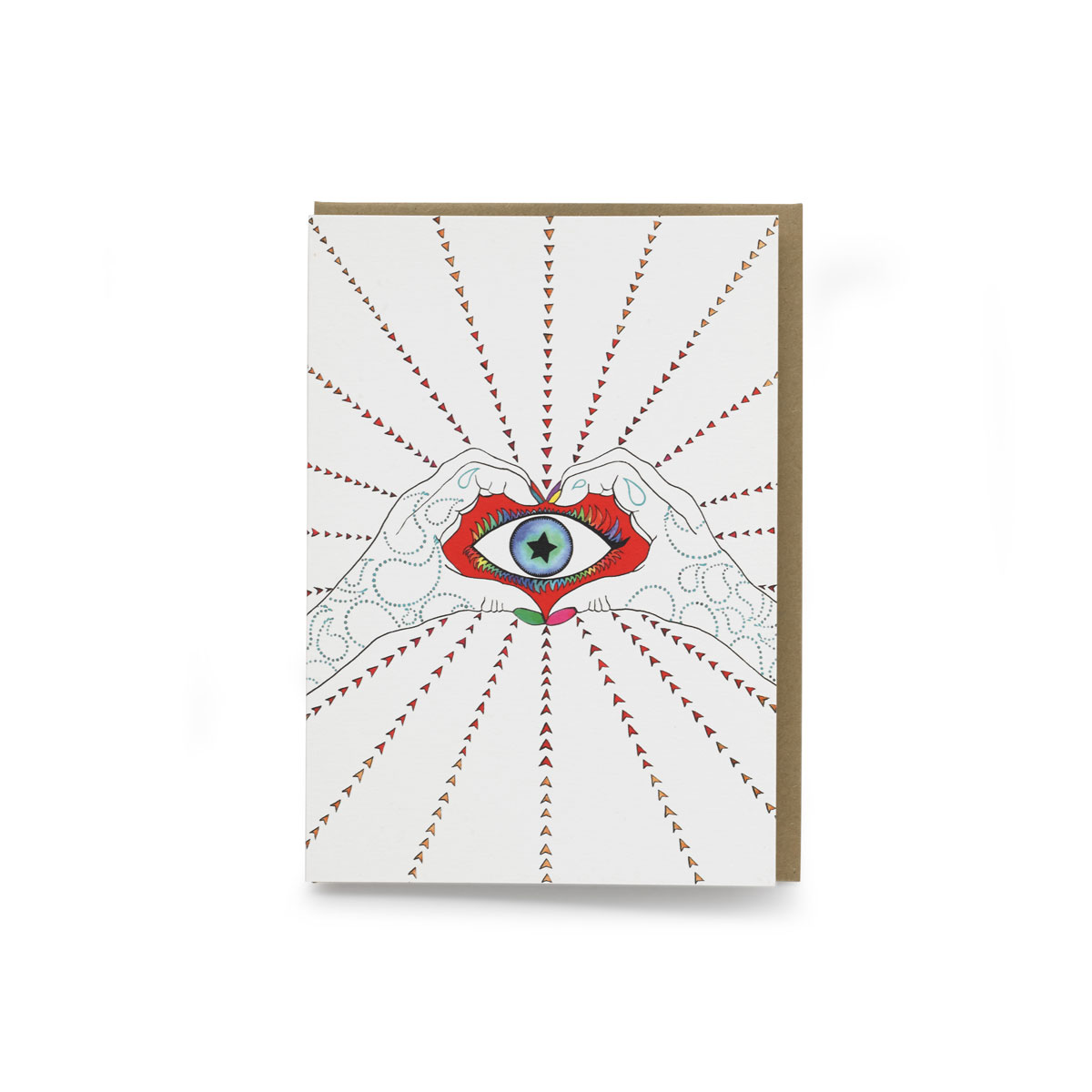 ALL SEEING EYE PRINTED ON 300 GSM PAPER